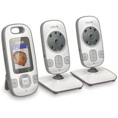 VTech VM312-2 Safe & Sound Full-Color Video and Audio Baby Monitor with 2 Cameras $ 160