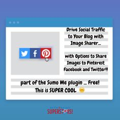 Loving this Super Cool Tool for your blog...  Encourage visitors to share your images socially to   ★  Pinterest ★  Facebook ★  Twitter  with this nifty tool!