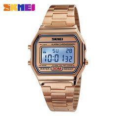 7aa3492428b Barato Homens SKMEI Quente LED Relógio Digital Relógios Desportivos Relojes  Relogio masculino dos homens de Aço