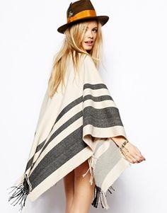 Image 2 ofASOS Stripe Blanket Cape