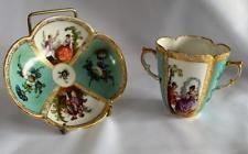 Helena Wolfsohn~Quatrefoil~porcelain~Cup & Saucer~Meissen~Dresden~c1873~79~ Asking $175