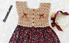 Baby Girl Dresses, Baby Dress, Girl Outfits, Baby Girl Crochet, Crochet Baby Clothes, Crochet Bikini, Crochet Top, Baby Knitting Patterns, Crochet Designs