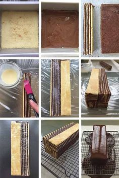 mondrian want this paso cake try to i aI want to try this! Paso a paso Mondrian Cake Sweet Recipes, Cake Recipes, Dessert Recipes, Cake Cookies, Cupcake Cakes, Opera Cake, Baking And Pastry, Plated Desserts, Yummy Cakes