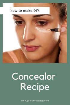 Diy Makeup At Home, Make Makeup, Under Eye Makeup, Under Eye Concealer, How To Make Concealer, Homemade Mascara, Natural Makeup, Natural Beauty, Face Facial