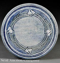 1909 Newcomb College art pottery trivet decorated by Alma Florence ...