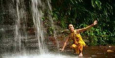 Sexy Dancer On Waterfall In Borneo ...  bikini, borneo, dancer, dancing, exotic, forest, jungle, malaysia, nature, rain, rainforest, tropical, water, waterfall, woman