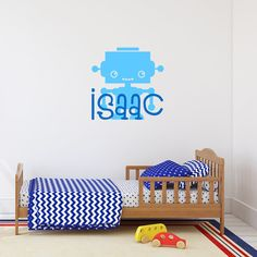 Robot with name Monogram Wall Decals, Name Wall Decals, Vinyl Wall Art, Nursery Stickers, Wall Stickers, Cleaning Walls, Single Sheets, Color Swatches, Vinyl Lettering