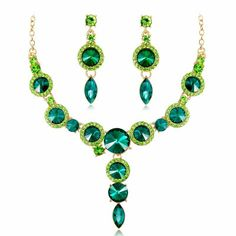 Women's Multicolor Sapphire Crystal Classic Jewelry Set Ladies, Fashion Include Bridal Jewelry Sets Green / Blue / Champagne For Wedding Party Masquerade Engagement Party Prom Promise / Earrings Rhinestone Necklace, Crystal Necklace, Crystal Rhinestone, Fashion Earrings, Women's Earrings, Wedding Accessories, Fashion Accessories, Bridal Party Jewelry, Costume Jewelry Sets