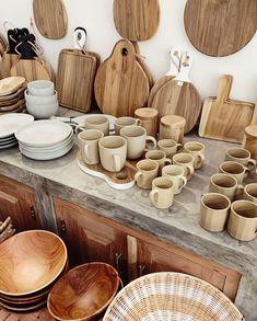 Wooden Gifts, Handmade Wooden, Wooden Kitchen, Kitchen Decor, Natural Wood Crafts, Bali Shopping, Ceramic Store, Modern Rustic Decor, Autumn Decorating