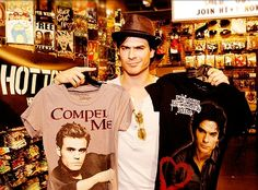 Ian Somerhalder....love him as Damon...Damon has been my favourite character since before the TV show existed!!