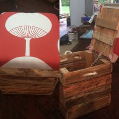 Pallet boot box with seat