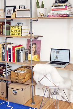love this!!!  also like the idea of shelves like this with a clothing rod
