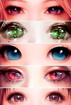 manga eyes, i wish my eyes were like this! Especially the blue one and the cat like ones! - anime eyes for girls and women - drawing reference Realistic Eye Drawing, Manga Drawing, Manga Art, Anime Art, Drawing Eyes, Manga Anime, Anime To Draw, Comics Und Cartoons, Poses References