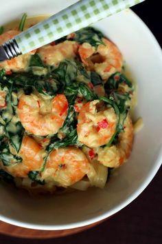 Shrimp in Spinach and Coconut Milk kokosowym6