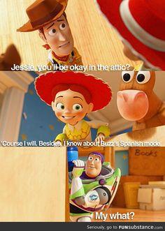 Toy Story 3 - Buzz's Spanish mode was too funny! Disney Pixar, Disney Memes, Disney Quotes, Disney Animation, Disney And Dreamworks, Disney Girls, Disney Love, Disney Magic, Walt Disney