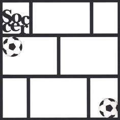 Soccer 12 x12 Photo Overlay Laser Die Cut by Scrap Your Trip.com