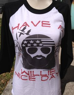 LAST ITEM SALE Have A Willie Nice Day Black Baseball Tee $25.00 www.gugonline.com