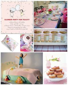 Girls of all ages love a fun slumber party. Think cozy pajamas, sweet treats, dreamy decor, and fun, crafty activities -- all perfect for a simple sleepover. Pj Party, Sleepover Party, Throw A Party, Slumber Parties, Party Gifts, Party Time, Little Girl Birthday, 9th Birthday, Birthday Ideas