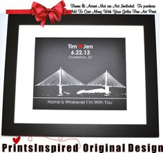 Give this unique city skyline gift and get the WOW factor. Shown is Charleston, SC and can be ANY Location  Custom designed wall art. Choos