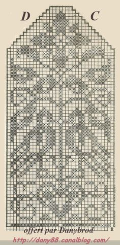 Filet Crochet, Crochet Stitches Chart, Crochet Mittens Free Pattern, Knit Mittens, Knitting Charts, Knitted Gloves, Knitting Stitches, Knitting Patterns, Double Knitting