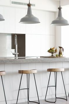 concrete kitchen counters - love!