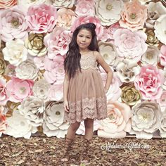 Our little darlin' @txunamy in our 2016 Spring Collection  ~ This gorgeous coffee colored dress is named Txunamy of course :). We are so excited to release her to you all !  Thank you @pretty___petals for your gorgeous backdrop ! It made our pics amazing !  PC: @lollipopsandslingshots  HMUA : @kriscolemakeup @heatherley_lox