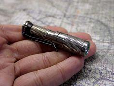 Polished Titanium AAA Flashlight by Maratac ™ REV 4 - CountyComm