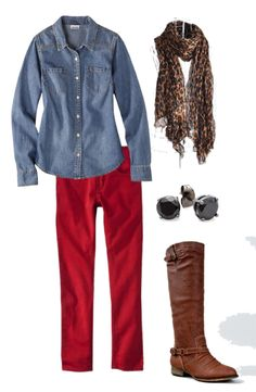 Frugal Fashionista:  Red Denim + Animal Print - All from Target and Amazon #mommysavers #frugalfashionista