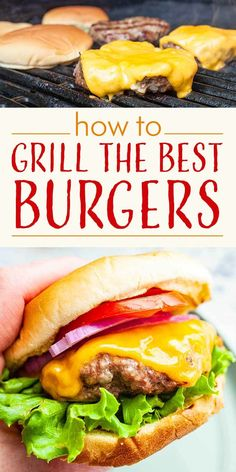 to Grill the Best Burgers! We tested all sorts of methods for mixing, shaping, and grilling backyard burgers, and even talked with grilling expert Steven Raichlen! Here is our take on the perfect grilled burger. Burger Mix, Good Burger, Grilling Recipes, Meat Recipes, Cooking Recipes, Barbecue Recipes, Barbecue Sauce, Cooking Tips, Cheese Burger