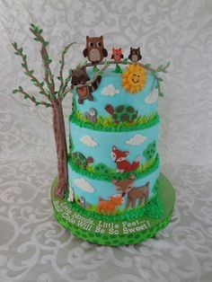 Lambs & Ivy Woodland Tales - Cake by Custom Cakes by Ann Marie