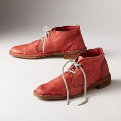 DESERT ROSE CHUKKAS -- Classics for a reason, these three-eyelet standbys step out smartly with fresh colors in gently burnished leather. Unlined, with leather soles. Euro sizes 36 to 36 (US 37 (US 38 (US 39 (US 40 (US 41 (US heel. Desert Rose, Boot Shop, Short Boots, Western Boots, Me Too Shoes, Footwear, Clothes For Women, My Style, Heels
