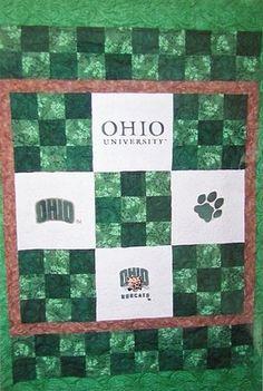 Ohio University Bobcats Quilt Kit