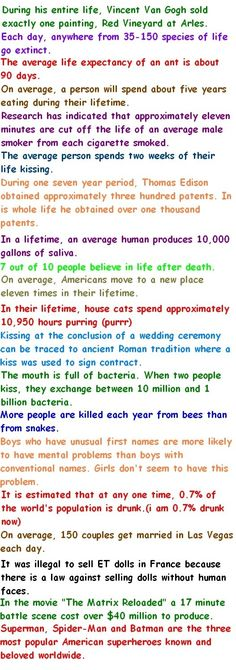 funny facts about life lovely