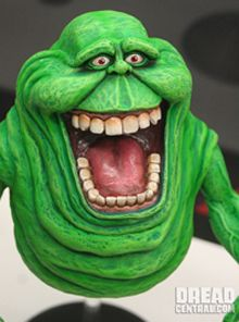 Inspiration for a Slimer puppet to go with my son's ghostbusters costume.