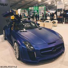 Mercedes-Benz SLS with a midnight blue paint