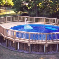 Above Ground Pool Deck Designs discover the jacuzzi difference above ground swimming pools with decks hot spot pools spas How To Build A Deck Around An Above Ground Pool
