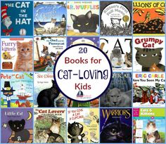 My kiddo loves cats, but she's allergic to them. Therefore, she likes to read about them - a lot! Here's a great list of books for cat-loving kids of all ages.   embarkonthejourney.com