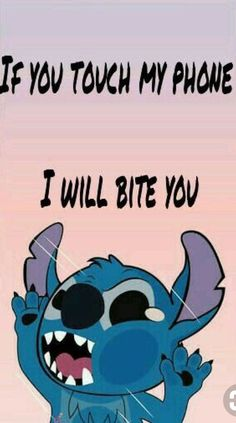 phone wallpaper quotes disney Stich wallpaper If you touch my phone I will bite you By Geovanna Frigo Stich wallpaper If you touch my phone I will bite you By Geovanna Frigo Funny Lockscreen, Cartoon Wallpaper Iphone, Disney Phone Wallpaper, Iphone Background Wallpaper, Cute Cartoon Wallpapers, Locked Wallpaper, Wallpaper Quotes, Lock Screen Wallpaper Funny, Cute Wallpaper For Phone