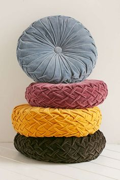 Round Pintuck Pillow Shop Round Pintuck Pillow at Urban Outfitters today. We carry all the latest styles, colors and brands for you to choose. Velvet Pillows, Couch Pillows, Decor Pillows, Colorful Throw Pillows, Decorative Pillows, Girls Bedroom, Bedroom Decor, Peach Bedroom, Urban Outfitters