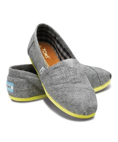 This Yellow Mini Herringbone Classics by TOMS is perfect! #zulilyfinds