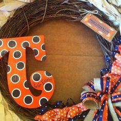 Auburn Tigers wreath. War Eagle! :)