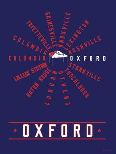 Oxford (SEC Conference) Mississippi - Ole Miss