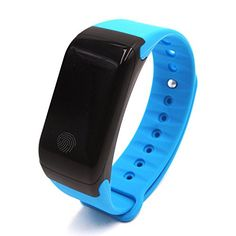 Toprime Smartband Sports Bracelet Health Movement Pedometer Heart Rate Monitor Temperature Waterproof Fitness Tracker TP5 Blue -- Check this awesome product by going to the link at the image.