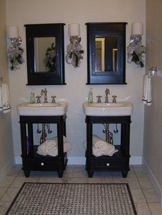 Our master bathroom.  I wanted to design a classic look...inspired by the 1930-1940s.