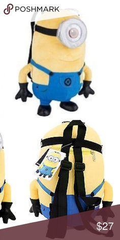 NWT Minion Backpack All sales will go towards my medical school tuition :)  Bundle for additional discounts. Reasonable offers are welcomed! LOW BALL OFFERS WILL BE IGNORED. (Also selling on 〽️ for less) Hot Topic Bags Backpacks