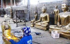 Buddha factory in Thailand