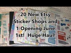 20 New Etsy Sticker Shops Reviewed Plus 1 Opening June 1st - Huge Haul