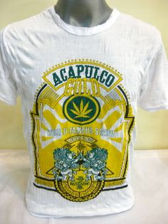 Sure Design Acapulco Gold Classic #Cannabis Marijuana Weed Strain Tshirts. See all colors here: http://www.suredesigntshirts.com/collections/cannabis-strain-tshirts-by-sure-design/acapulco-gold