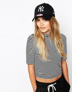 6bd4d402c6ce New Era NY Cap - Black from ASOS - Cap by New Era, Cotton twill, Domed  crown with eyelet vents, Logo applique,