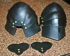 Rugged PLASTIC ARTICULATED Knee Armor for SCA, WMA, Larp, Rattan, Sword COMBAT